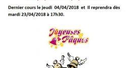 Vacances de Pâques 2019.